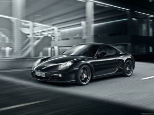 2012 Porsche Cayman S Black Edition Front angle side view