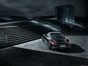 2012 Porsche Cayman S Black Edition Rear angle top view