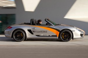 Electric Porsche Boxster E First drive Side view