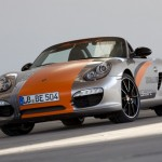 Electric Porsche Boxster E First drive Front angle view
