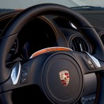 Electric Porsche Boxster E First drive Interior Steering wheel