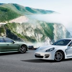2011 White Porsche Panamera Diesel 3000x1560 wallpaper Side view
