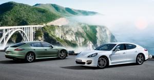 2011 White Porsche Panamera Diesel 3000x1560 wallpaper Side view
