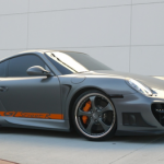 Andrew Bynum's Porsche 911 TECHART GTstreet Front angle side view