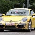 2012 new Porsche 911 (Porsche 991) Spy shot Front view