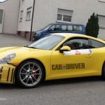 2012 new Porsche 911 (Porsche 991) Spy shot Side view