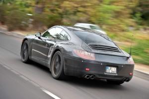 New Porsche 911 (Porsche 991) first drive Rear angle side view