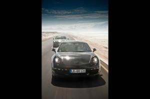 New Porsche 911 (Porsche 991) first drive Front view