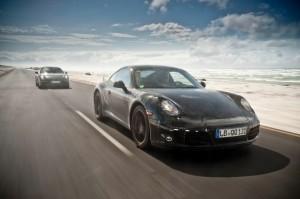 New Porsche 911 (Porsche 991) first drive Front angle side view