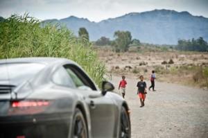 New Porsche 911 (Porsche 991) first drive Side angle view