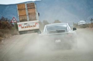 New Porsche 911 (Porsche 991) first drive Rear view