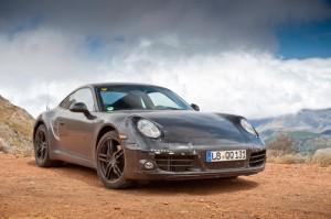 New Porsche 911 (Porsche 991) first drive Front angle view