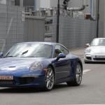 new Porsche 911 (2012 Porsche 991) Front angle view
