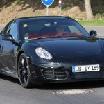 New Porsche Cayman 2012 Spy Shots Front angle view